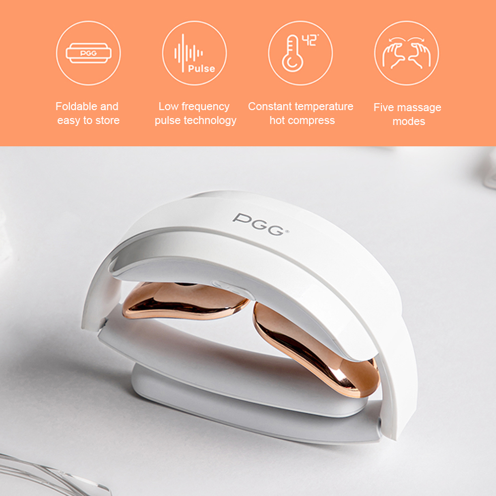 Electric Neck Massager Foldable Low Frequency Shoulder Pain Relief Pulse Infrared Heating Hot Compress Gel Paste Neck Massage
