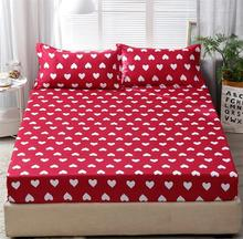 15 Pattern Fitted Sheet Bed Sheet with Elastic Band Couple Mattress Protector Cover Bedspreads Bedclothes Linens
