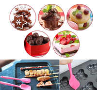 1PCS Silicone Baking Tool Cake Butter Spatula Mixing Batter Scraper Color Random QJS Shop