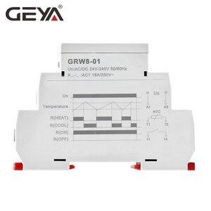 Image 2 - 送料無料geya GRW8 dinレール温度制御リレー 16Aワイドレンジ電圧ac/DC24 240V防水センサー