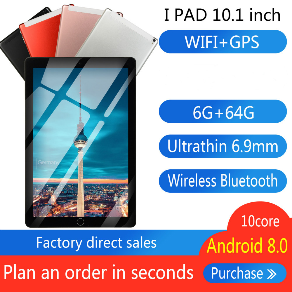 Brand New 10 Inch Eight Core 6G + 64G  Android 8.0 Dual Card Dual Camera Rear WiFi Call Mobile Phone Tablet WiFi Call