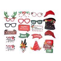 38 шт., 2020 год, Рождественские фото реквизиты, веселые вечерние носки в форме Санта-Клауса, шапка, украшение «оленьи рога», реквизиты