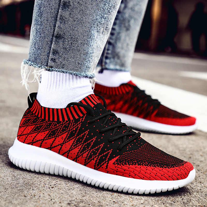 2019 Новая Летняя мужская повседневная обувь дышащая сетка Мужская красочная модная дышащая обувь для ходьбы мужские кроссовки