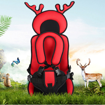 Antler Shape Simple Child Seat for Kids 8 Solid Colors Traveling Baby Sitting Cushion Newest Comfortable Protect Mats with Belt