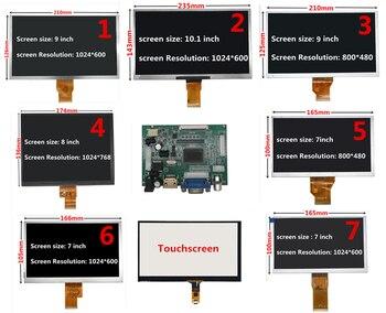Pantalla LCD de 7/8/9/10.1 pulgada 1024*600 con HDMI VGA Monitor de placa de controlador para Raspberry Pi Banana/Orange Pi Mini ordenador