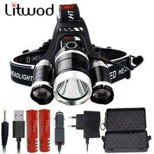 Litwod Z20 CREE XHP70.2 светодиодный налобный фонарь Головной фонарь фронтальный фонарь 18650 батарея VS 3 шт. XM-L T6