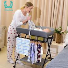Diaper-Changing Table Baby Care Desk Newborn Baby Change Diaper-Changing Table Massage Baby Care Table Foldable Changing case