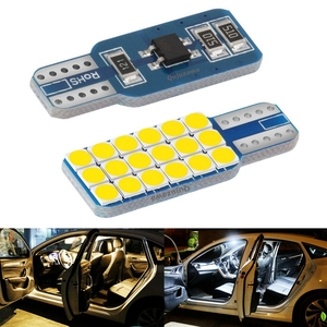 2Pcs 2020 New T10 W5W Super Bright 3030 LED Car Interior Reading Dome Lamps Auto Luggage Compartment Light Wedge Trunk Door Bulb
