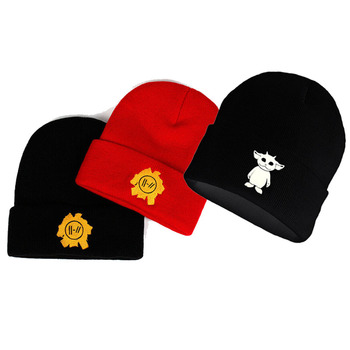 Twenty One Pilots Beanie Cap Knitted Hat Embroidery Cosplay Costume Accessories image