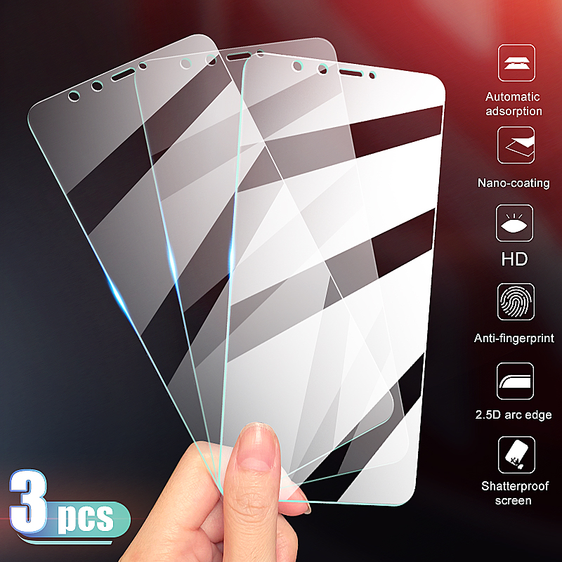 3-1Pcs Tempered Glass For Huawei Y6 Y7 Y9 Pro 2019 Screen Protector Huawei Y7 Y6 Y9 Prime 2018 Y9S Y7S Protective Glass Film