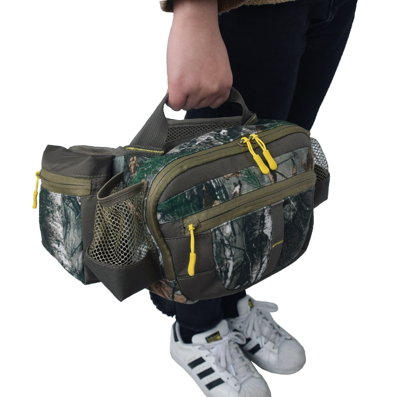 Outdoor Fleece Army Fans Supplies Camouflage Wallet Fishing Wallet Mountain Climbing Tactical Bag