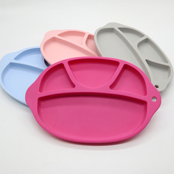 Baby Silicone Plate Children's Dishes BPA Free Multifunctional Baby Feeding Plate Kids Food Bowl Food Grade Silicone Anti-fall