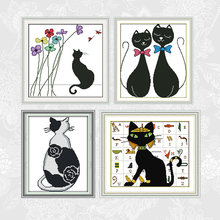 Набор для вышивки крестиком серии black cat dmc набор нитей