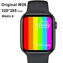 الأصلي IWO W26 2021 ساعة ذكية الرجال النساء 44 مللي متر 40 مللي متر اللمس الكامل اللياقة البدنية تعقب IP67 مقاوم للماء Smartwatch ل Xiaom آيفون