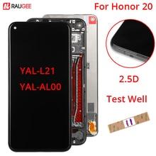 Дисплей для Huawei Honor 20, ЖК дисплей, сенсорный экран 100%, новый дигитайзер в сборе, экран для Honor20, YAL L21, дисплей