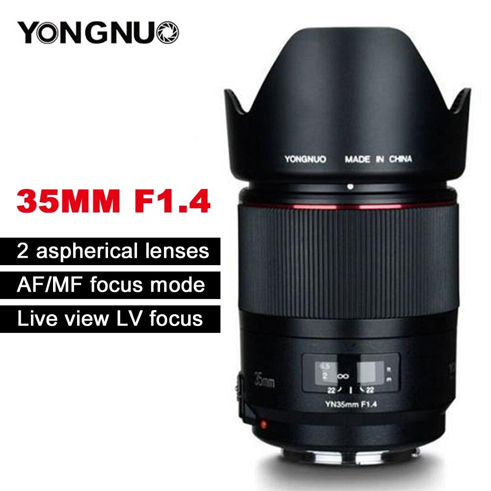 YONGNUO YN35mm F1.4 широкоугольный объектив с полной рамкой для Canon DSLR камер 70D 80D 5D3 MARK II 5D2 5D4 600D 7D2 6D 5D