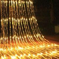BEIAIDI 6X3M 3X6M 640 Leds Waterfall Curtain String Light Meteor Shower Rain Fairy String Garland Christmas Wedding Icicle Light