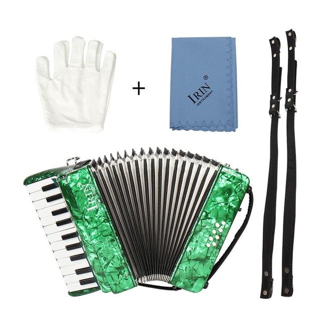 22 คีย์ 8 Piano Accordion สายรัดถุงมือทำความสะอาดผ้าการศึกษาเครื่องดนตรีสำหรับนักเรียนเริ่มต้น Childern