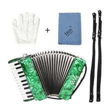 22 schlüssel 8 Bass Klavier Akkordeon mit Straps Handschuhe Reinigung Tuch Pädagogisches Musik Instrument für Studenten Anfänger Childern