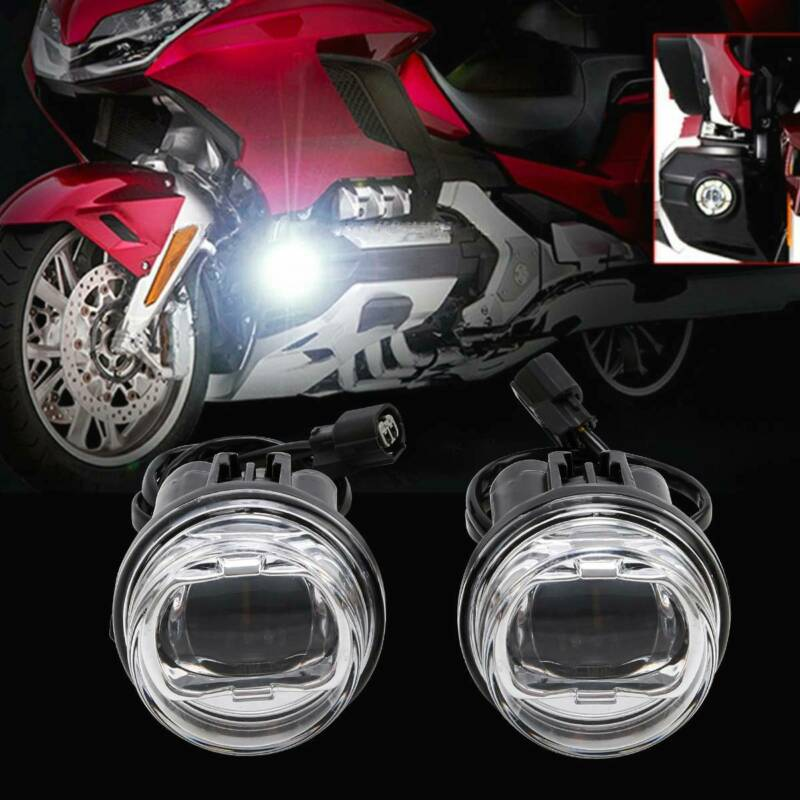 Motorcycle 1 Pair LED Fog Lights Kit For Honda GL1800 Goldwing 2018-2019 Replace Of 08V70-MKC-A00