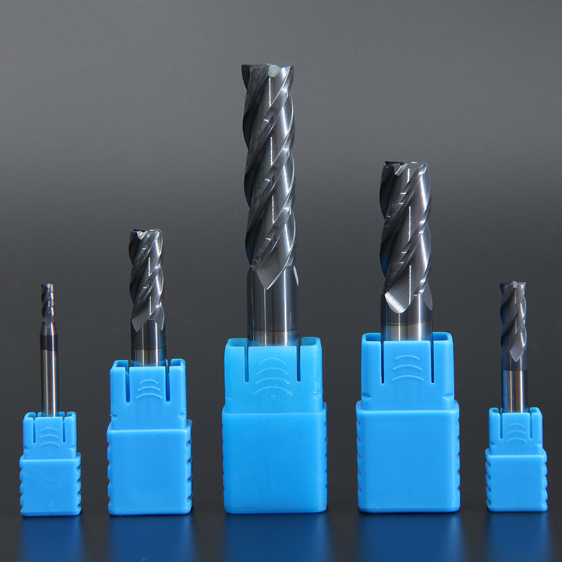 Endmill HRC50 4 Flute High Quality Alloy Carbide Tungsten Steel Milling Cutter End Mill 3mm 4mm 5mm 6mm 8mm 10mm Milling Tools