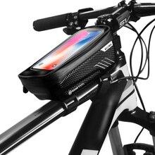 WILD MAN Bicycle Bike Frame Phone Bag Mountain Rode Cycling Touch Screen Hard Shell Waterproof Holder Case