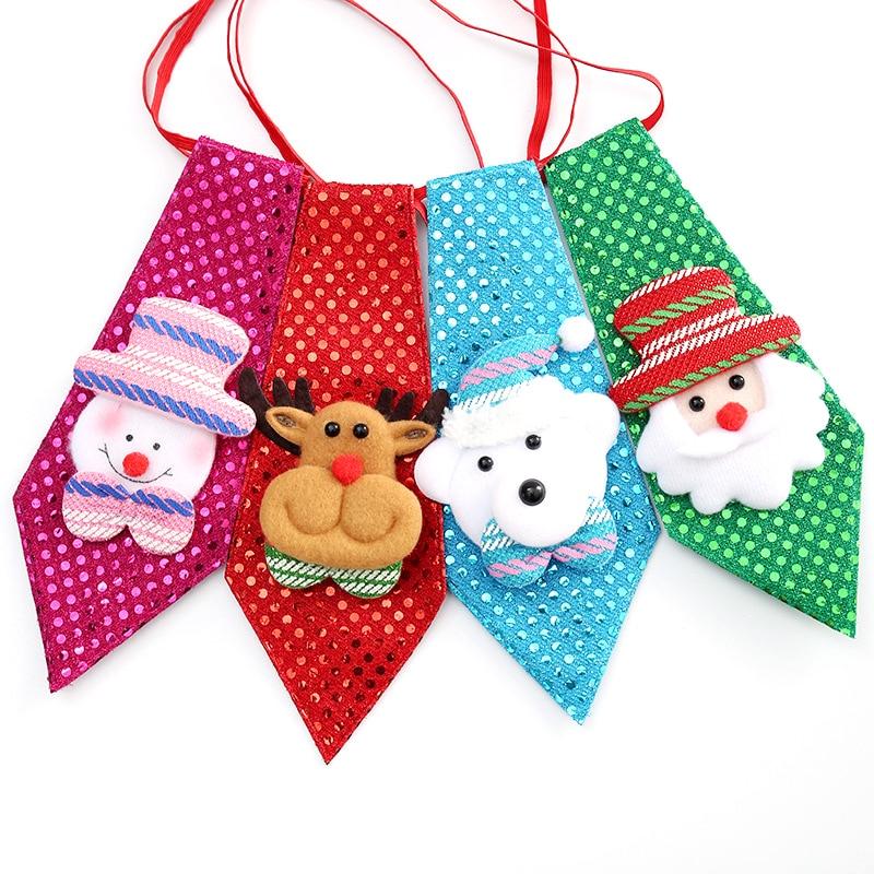 20/50 Pcs Pet Dog Grooming Necktie Christmas Holiday Party Pet Dog Necktie Handmade Cute Snowman Deer Dog Accessories Necktie