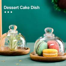 Dessert Display Tray Bread Fruit Dessert Serving Stand With Dome Lid Dish Storage Tray Kitchen Multifunctiona Platter Cake Plate(China)