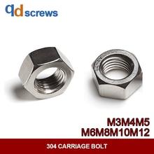 304 M3M4M5M6M8M10M12 left-hand thread and fine pitch stainless steel nut