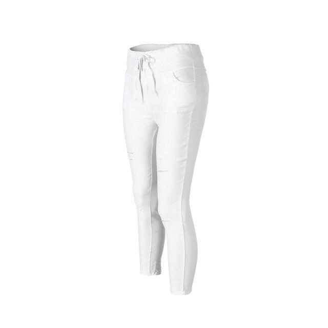 2020 Overalls Women Fashion Slim High Waist Elastic Skinny Pencil Pants Solid Color Street