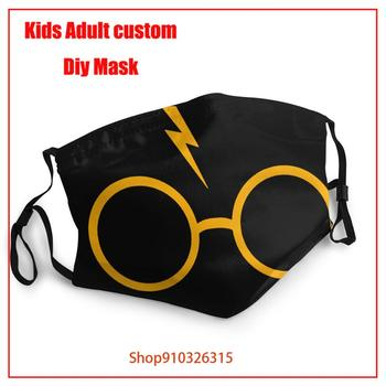 The latest fashion masks  Harry LOVE Potter-lovers Lightning-glasses Washable Reusable Mouth Cover Fashion Fabric Masks