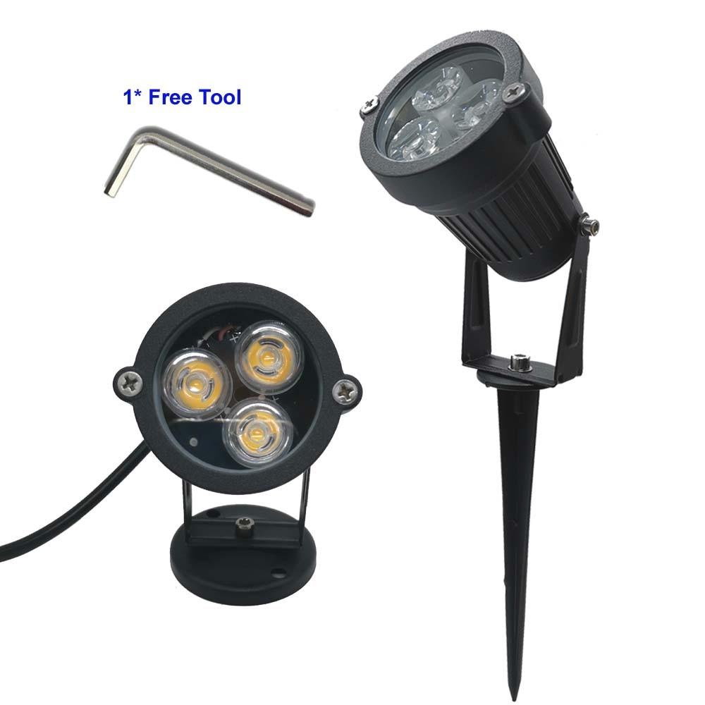 3X3W Cold White Light AC110V 220V LED Lawn Lamp Outdoor Path Lighting 9W Landscape Lights 220 V Spot Light For Garden