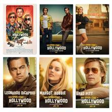 2019 la nueva película de seda cartel una vez en un tiempo en Hollywood Retro arte decoración de pared Vintage fotos Quentin Tarantino carteles
