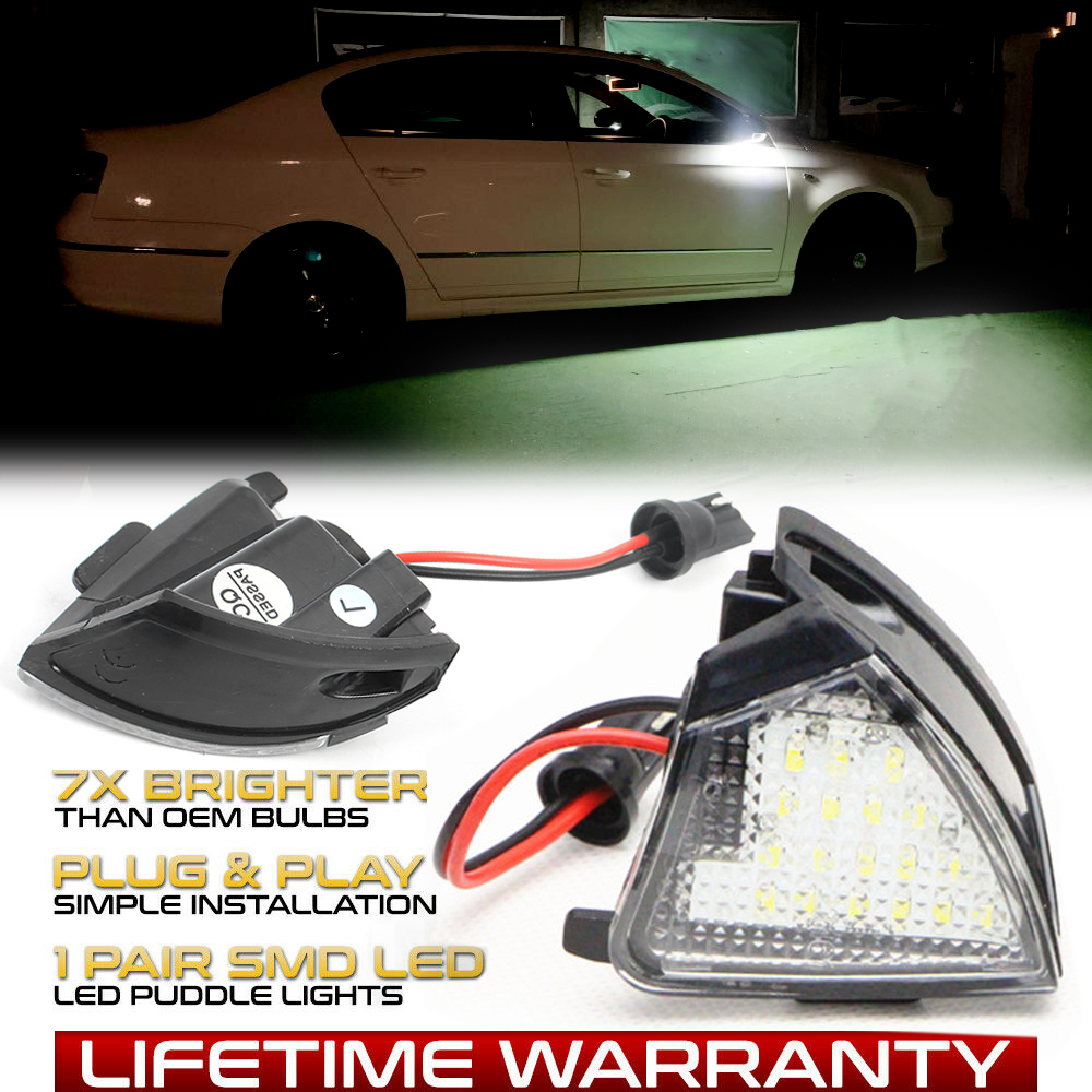 <font><b>LED</b></font> Under Side Mirror Puddle <font><b>Light</b></font> For <font><b>VW</b></font> Golf MK 5 6 Variant Plus GTI R32 R36 <font><b>Passat</b></font> <font><b>B5</b></font> B6 CC Sharan 1 2 Tourn Eos Jetta Rabbit image