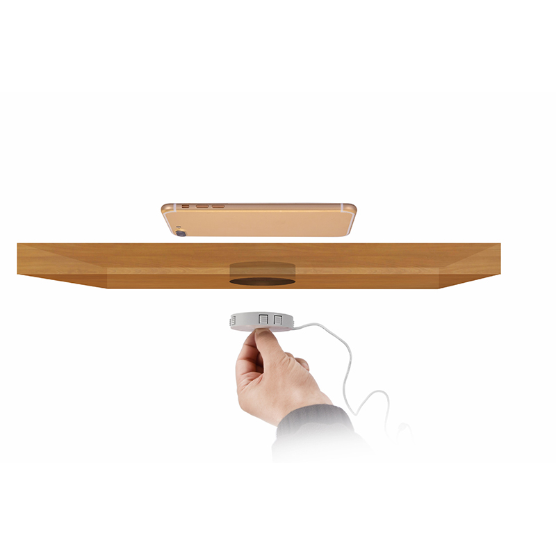 QI Invisible Wireless Charger Table Charging Pad Furniture Table Embedded For IPhone11 Xiaomi Easy Installation Super Long Cable 5