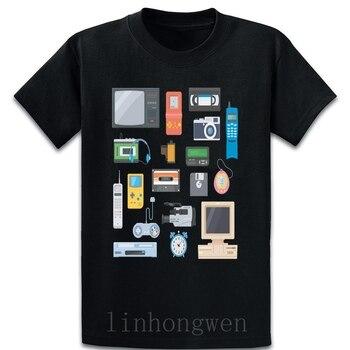 Retro Tech Vintage Nostalgia T Shirt Family Cotton Summer Anti-Wrinkle Fashion Create Over Size S-5XL Slim Shirt
