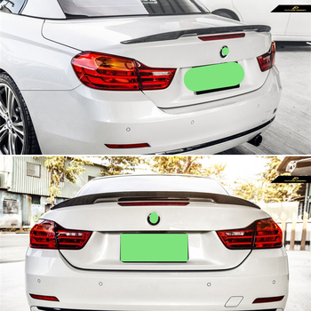 Use For BMW 4 Series Coupe F33 M4 F83 Spoiler 2014--19 Year 2door Cabriolet Carbon Fiber Rear Wing P Style Accessories Body Kit image