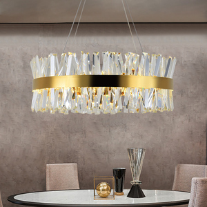 Image 1 - Modern Chandelier for Bedroom Round Gold/Chrome Crystal led Chandeliers for Living Room Dining Room Hall Hallway Home Decor Lamp
