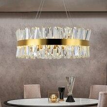 מודרני נברשת עבור שינה עגול זהב/כרום קריסטל led נברשות סלון חדר אוכל חדר מסדרון אולם בית תפאורה מנורה