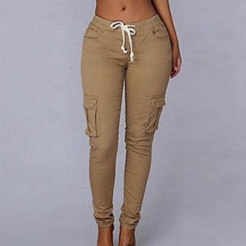 Women's Multi-Pockets Solid Pants
