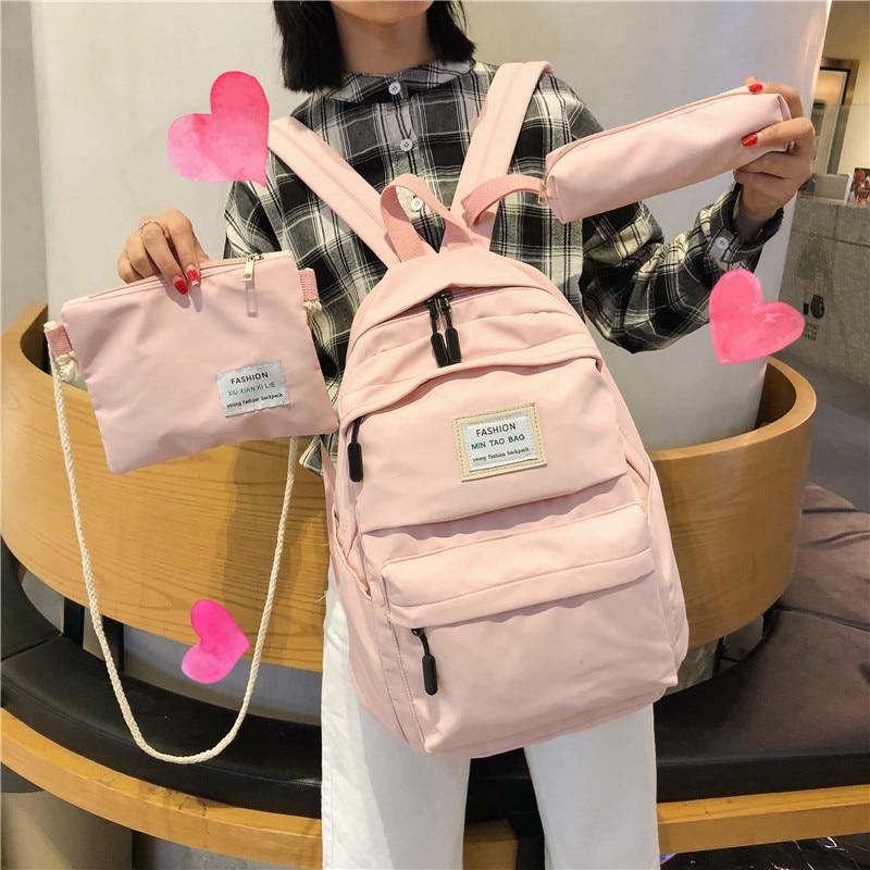 JULYCCINO Women Waterproof Nylon Backpack Female Large Capacity Travel Bag Korean Vintage Girl Shoulder Bags Schoolbag Mochila