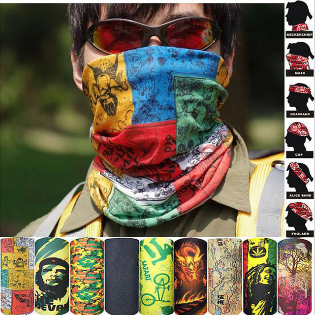 New Design Pattern Tube Microfiber Bandana Sports Headwear Cycling Hair Men's Scarf Dustproof UV ProtectionHeadband Muslim Hijab