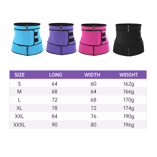 Neoprene Fitness Waist Trainer Corset Sweat Belt for Women Weight Loss Compression Trimmer Workout Body Shaper Fitness S-3XL 1