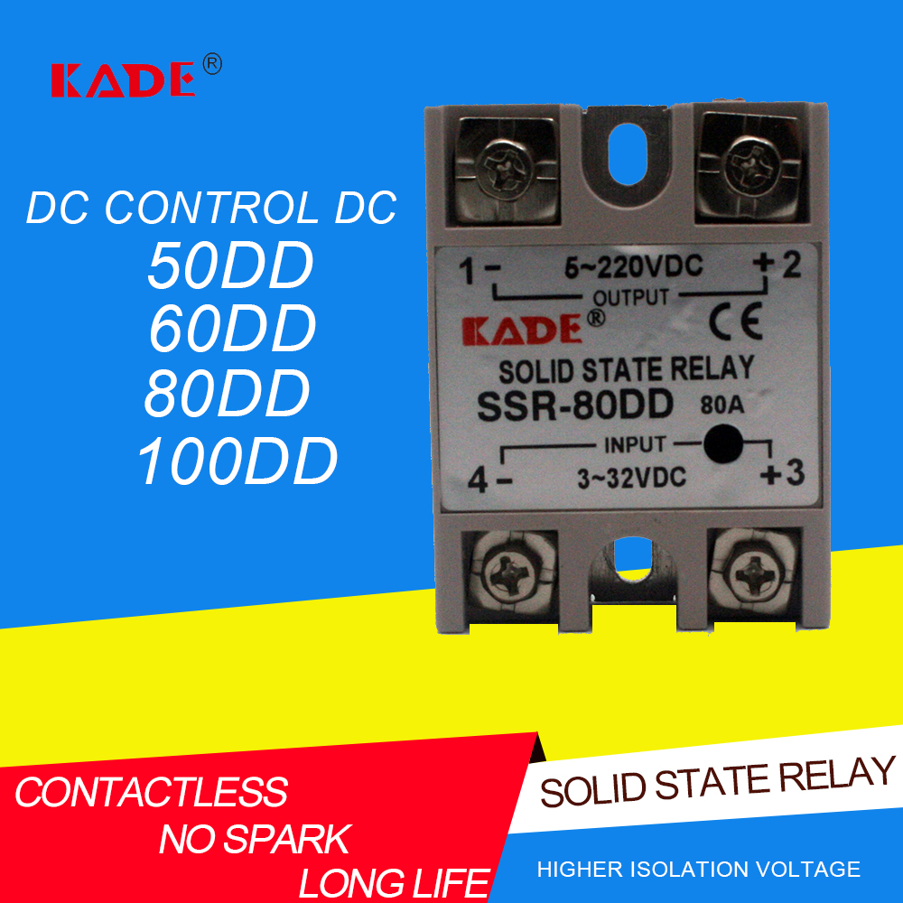 SSR  50DD/60DD/80DD/100DD DC Контроль DC SSR белый корпус Однофазное твердотельное реле без пластиковой крышки Реле      АлиЭкспресс