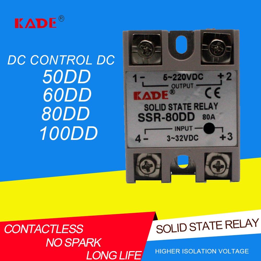 SSR -50DD/60DD/80DD/100DD DC контроль постоянного тока SSR белый корпус однофазный твердотельный реле без пластиковой крышки