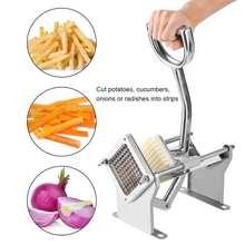 المطبخ الأفقي جهاز تقطيع بطاطس غير قابل للصدأ القاطع دليل الفاكهة الخضار الخيار الغذاء آلة قطع الفرنسية فراي المروحية