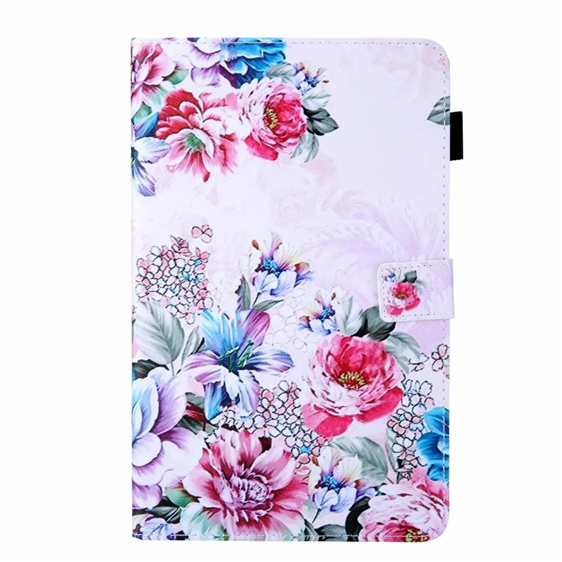 Tablet Case For <font><b>Samsung</b></font> <font><b>Galaxy</b></font> <font><b>Tab</b></font> <font><b>A</b></font> <font><b>10</b></font> <font><b>1</b></font> <font><b>2019</b></font> Fashion Rose Flower Painted Cover For coque <font><b>Samsung</b></font> <font><b>Tab</b></font> <font><b>A</b></font> <font><b>10</b></font>.<font><b>1</b></font> T515 T510 SM-T515 image