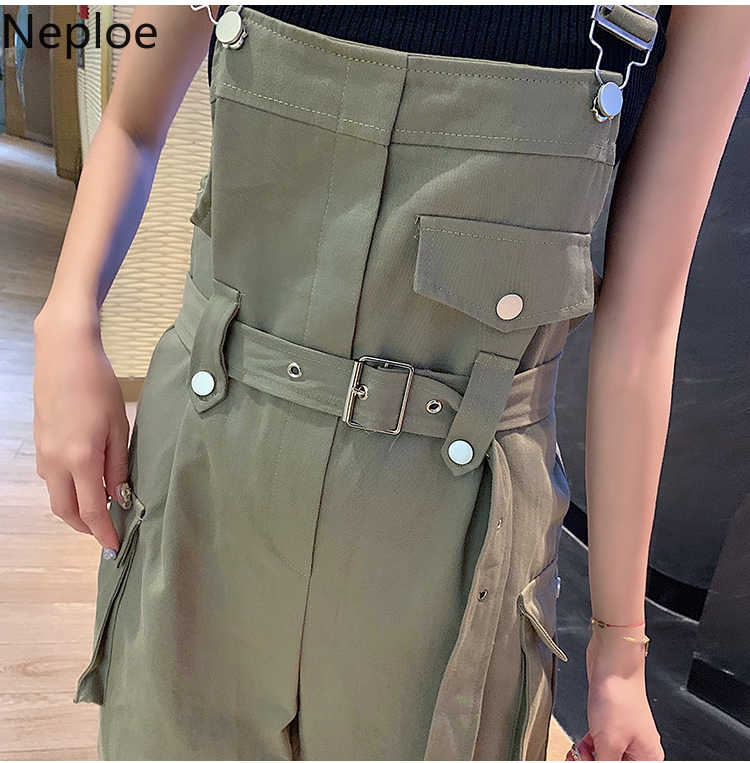 Neploe 2020 Frühling Arbeitskleidung Frauen Overall Frauen Mode College Stil Breite Beine Lose Koreanische Hohe Taille Body 49885