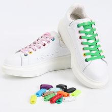 Newno галстук шнурки Туфли без каблуков эластичные для ботинок