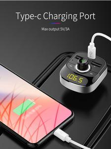 Mp3-Player Car-Kit Mp3 Modulator Usb-Car-Charger Audio Fm-Transmitter Bluetooth Hands-Free